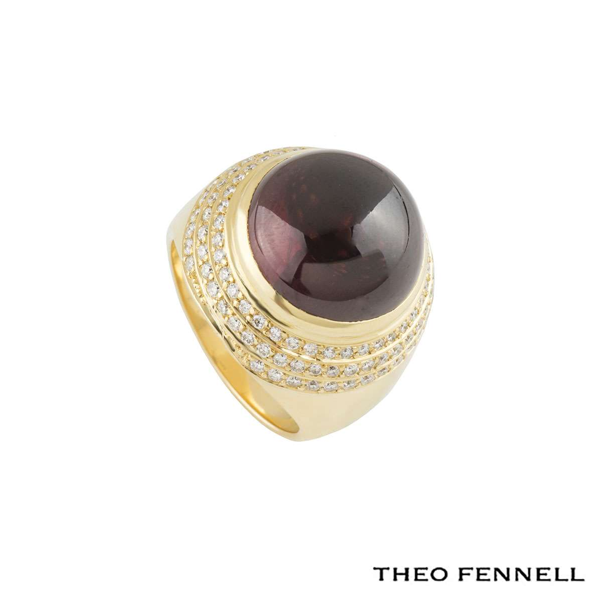 Theo Fennell Diamond and Garnet Dress Ring